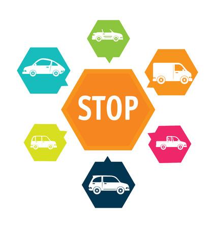 caravans: cars design over white background vector illustration Illustration