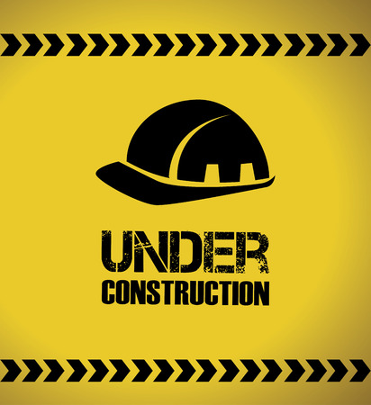 recondition: under construction over yellow background vector illustration