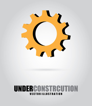 under construction over white background vector illustration  Vector