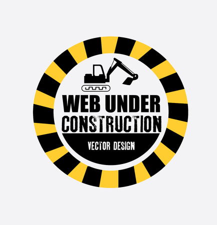 under construction over gray background vector illustration  Vector