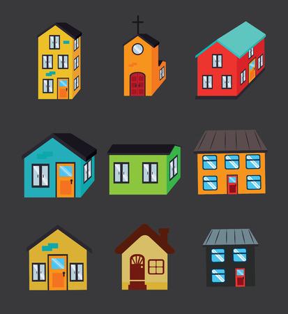 premises: real estate over  dark background vector illustration