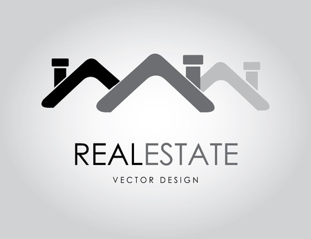 real estate over  background vector illustration  Vector