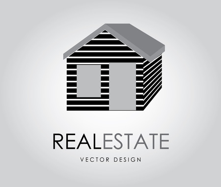 real estate over gray background vector illustration  Vector