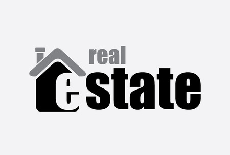 real estate over white background vector illustration  Vector