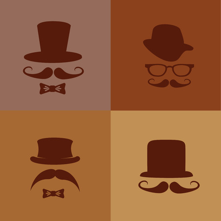 hipster design over brown background vector  illustration   Illustration
