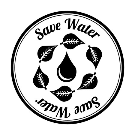 save water over white background vector illustration Vector