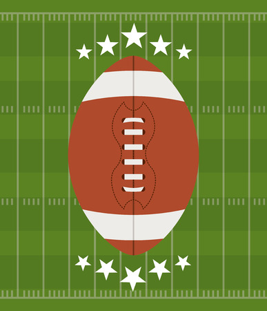 american football design over  green background vector illustration   Vector