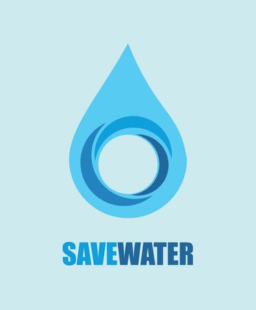 save water design over blue background vector illustration  Illustration