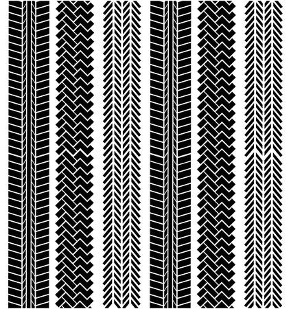 tire tracks over  white background vector illustration  Vector