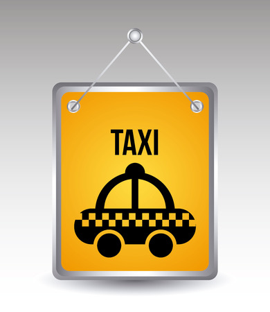 streak plate: taxi icons over  gray background vector illustration