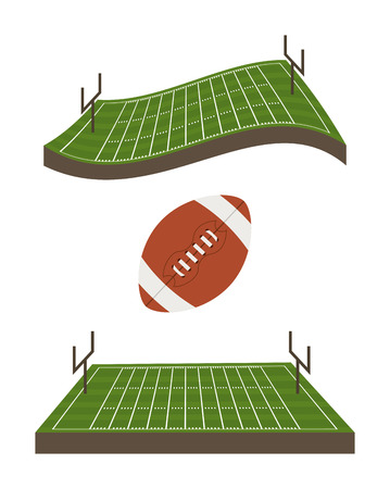 american football design over white  background vector illustration  Vector