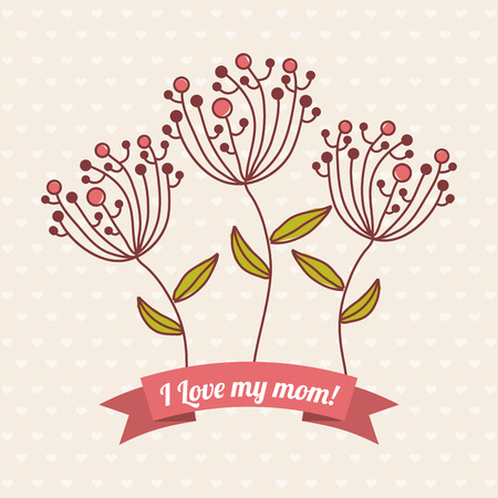 Happy Mothers day card, Vector illustration Vector