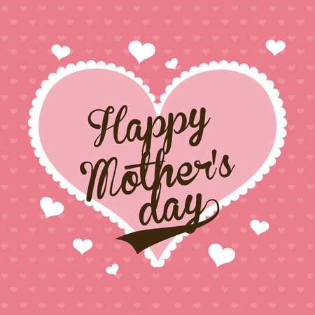 Happy Mothers day card, Vector illustration Illustration