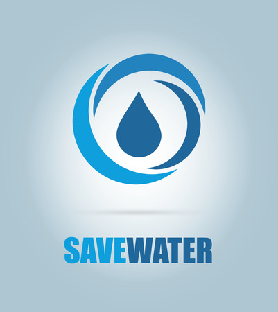 save water design over blue background vector illustration  Vector