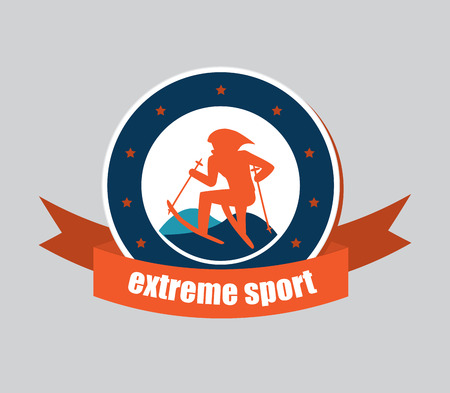 extreme sport icon Stock Vector - 26493355