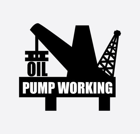 oil industry design over gray  background vector illustration  Vector
