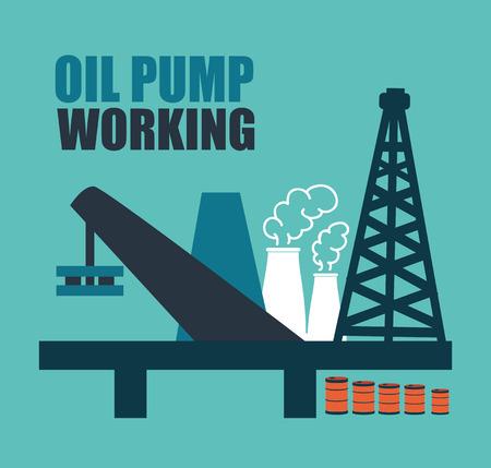 oil industry design over  cyan background vector illustration  Vector