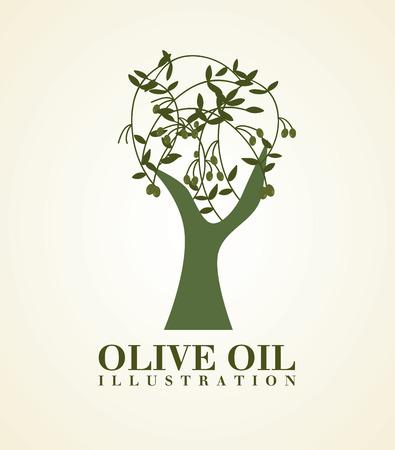 olive oil tree icon Ilustração