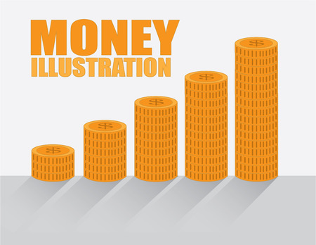 statics: savings design over  background vector illustration Illustration