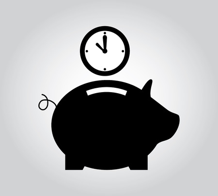 time over: saving time design over gray  background vector illustration