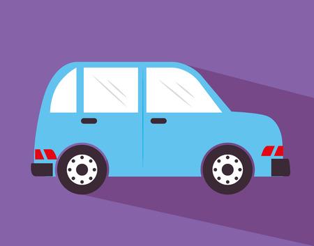 purple car: car design over purple background vector illustration