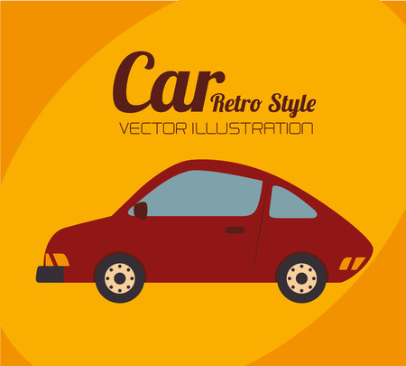 car design over orange background vector illustration  Vector