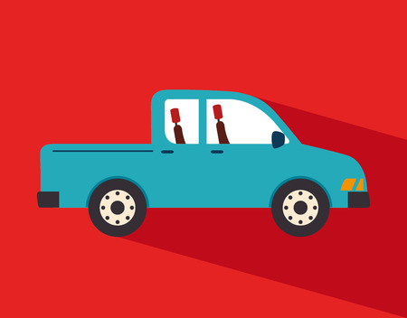 car design over red background vector illustration  Vector