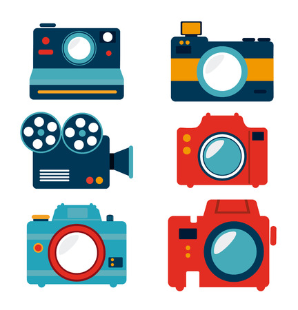 photography  design over white background vector illustration Vector
