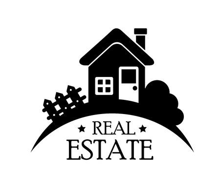 real estate design over white background vector illustration Vector