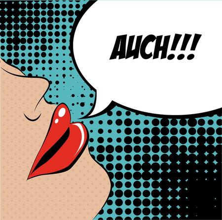 word art: pop art design over  dotted  background vector illustration Illustration