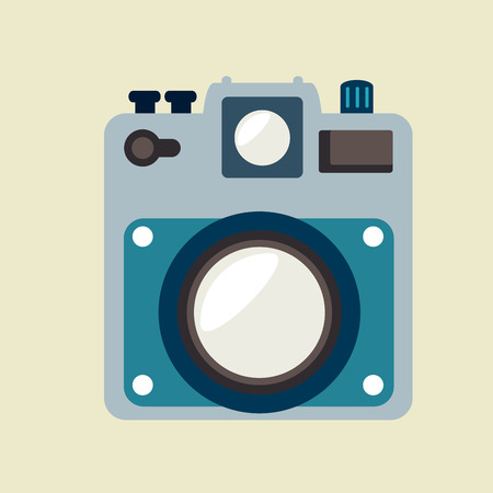 photography  design over beige background vector illustration Vector