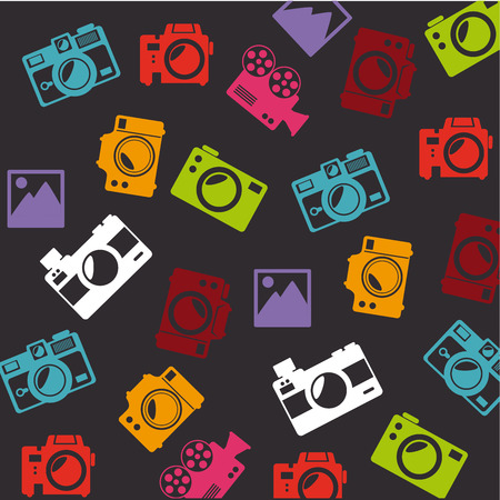photography  design over dark background vector illustration Vector
