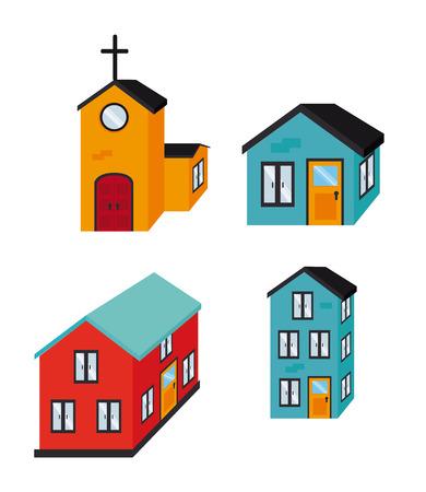 edifice: real estate design over white background vector illustration