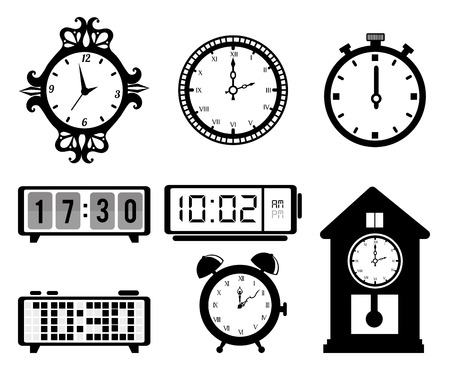 old clock: timewatch over white background vector illustration Illustration