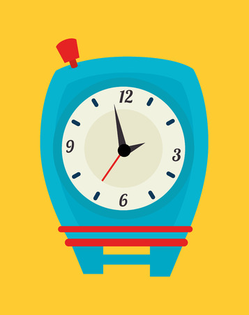 timewatch over yellow background vector illustration Vector