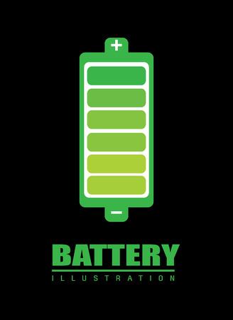 batterie design over black background, vector illustration  Illustration