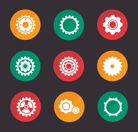 consept: gears design over dark background vector illustration