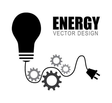 energy design over white background, vector illustration Illustration