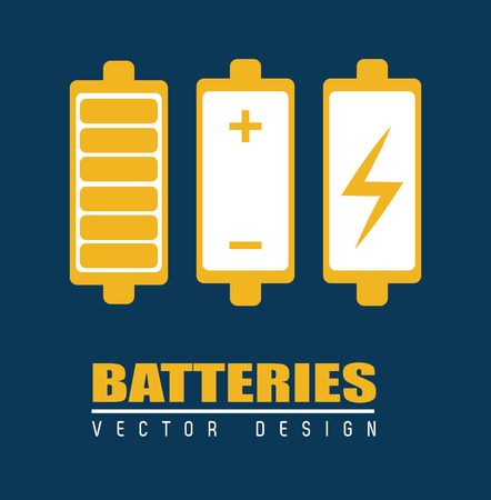 gr: batterie design over blue background, vector illustration