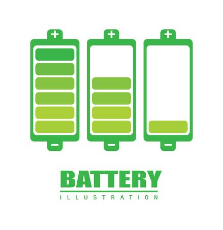 gr: batterie design over  background, vector illustration