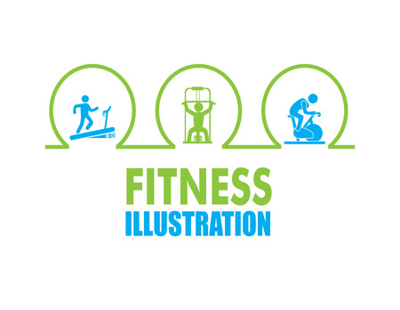 fitness design over white background, vector illustration Illustration