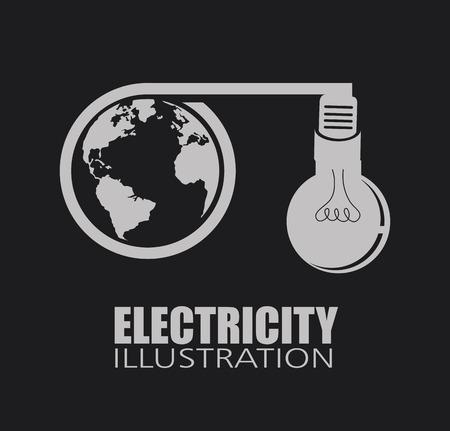 energetics: electric design over black background, vector illustration