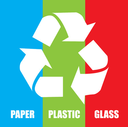 enviromental: Recycle design over colorful background, vector illustration