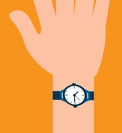 time design over orange background, vector illustration