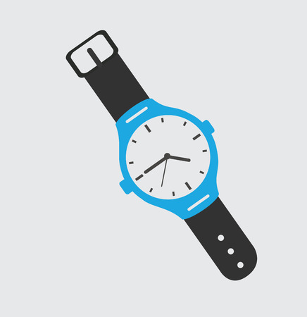 wrist watch: time design over gray background, vector illustration