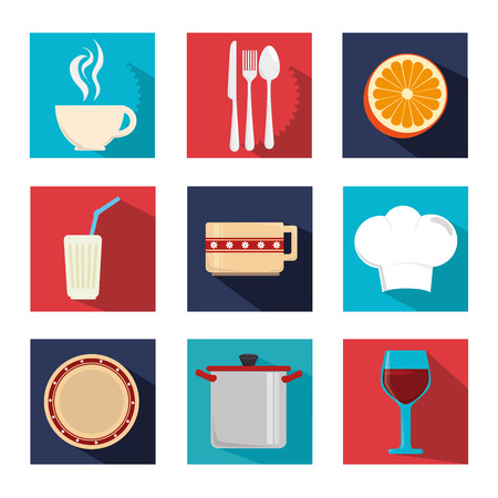 food design over white background vector illustration Vector