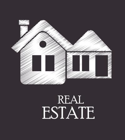 real estate design over gray background vector illustration Vector