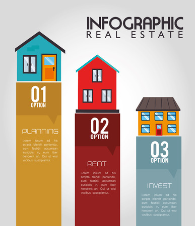real estate design over gray background vector illustration Stock Vector - 26598365