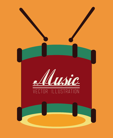 music design over orange background vector illustration Vector