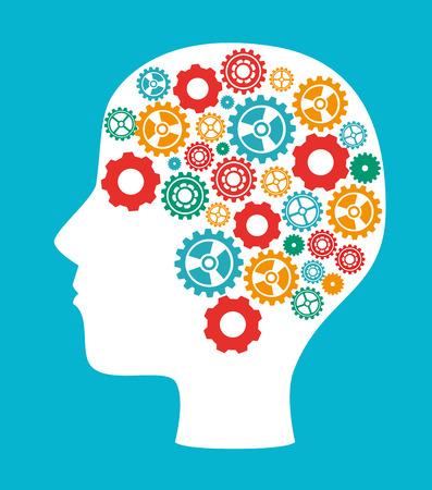 consept: gears design over blue background vector illustration